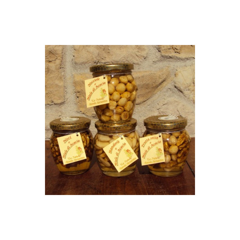 "Acacia honey with walnut and almonds - 220 gr. Azienda Agriapistica Biologica ""La Natura"""