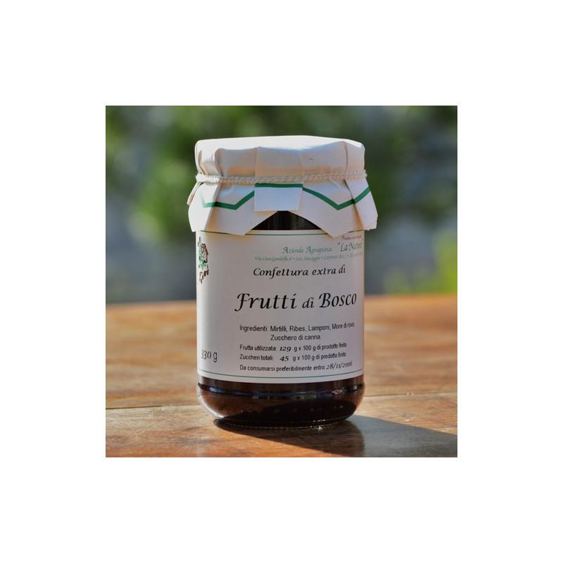 "Mixed Berries Jam with brown sugar - 330 gr. Azienda Agriapistica Biologica ""La Natura"""