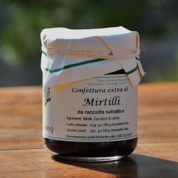 "Confettura di mirtilli selvatici - 210 g Azienda Agriapistica Biologica ""La Natura"""