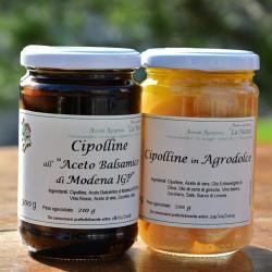"""Cipolline all'aceto balsamico - 300 gr. Azienda Agriapistica Biologica """"La Natura"""""""