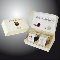 Balsamic Vinegar Pearls White and Black - Gift package Terra del Tuono