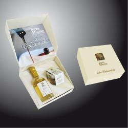 """Perle Balsamico bianche + aceto """"Bianco"""" - Confezione regalo Terra del Tuono"""