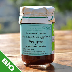 Plum jam with no sugar added- 300 gr.