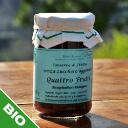 "4 fruit jam with no sugar added - 300 gr. Azienda Agriapistica Biologica ""La Natura"""