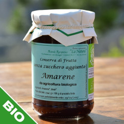 "Black Cherry jam with no sugar added - 300 gr. Azienda Agriapistica Biologica ""La Natura"""