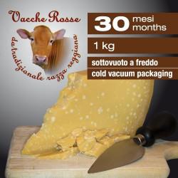 Parmigiano Reggiano Vacche Rosse 30 mesi - 1 kg