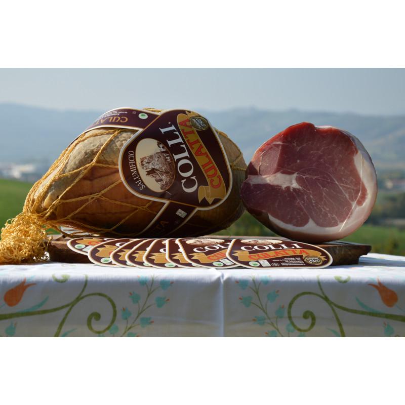 Domestic Culatta with pork rind (about 2,2 kg) Salumificio Colli