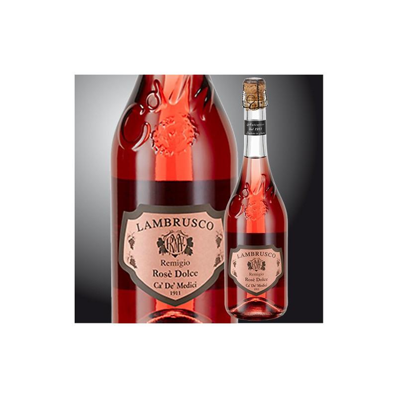 """Sweet Rosè Lambrusco """"Remigio Rose'"""" Ca de Medici"""