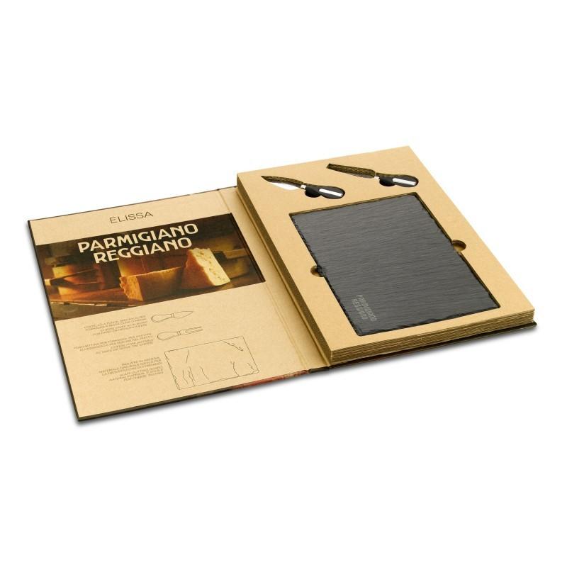PRELISSA open_book set con tagliere in ardesia MR