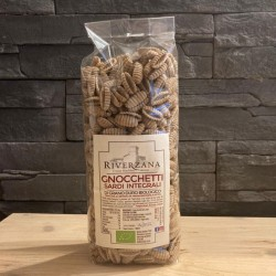 "Organic whole durum wheat ""Gnocchi""- 500 gr - ""Riverzana""Farm"