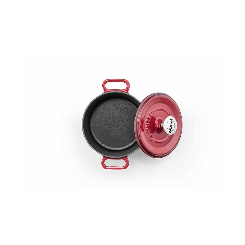 Mini-cocotte 14 cm red op