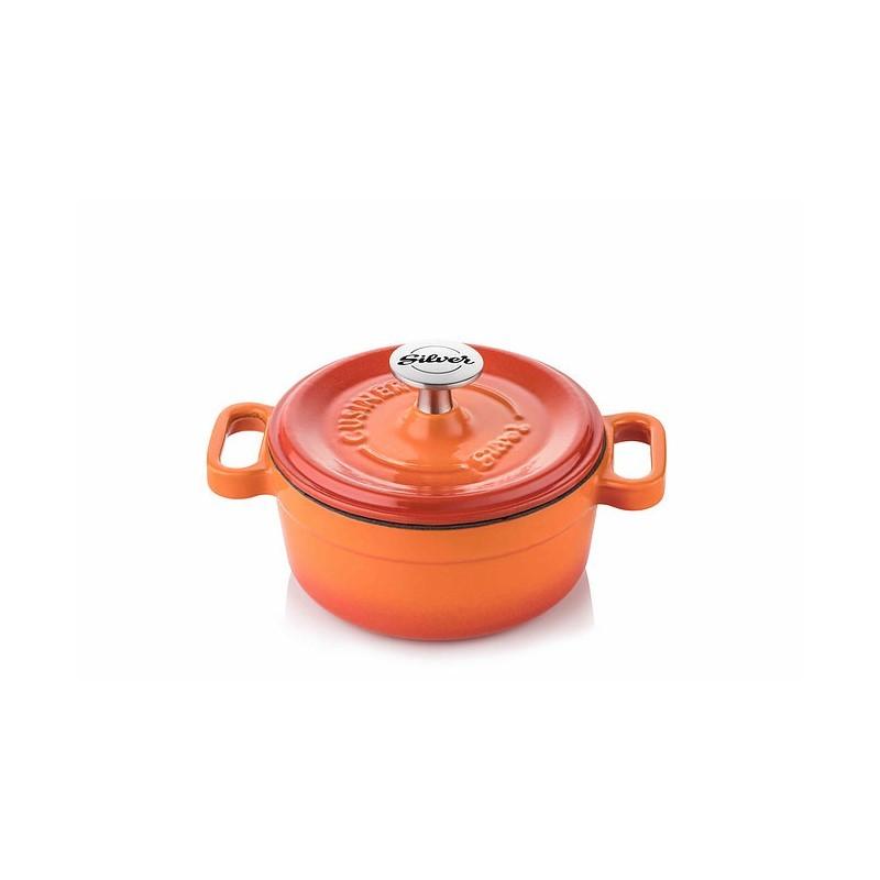Mini-cocotte 14 cm orange