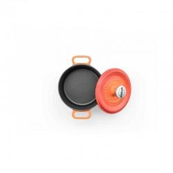 Mini-cocotte 14 cm orange op