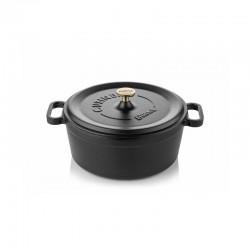 Cast iron cocotte 24 cm black