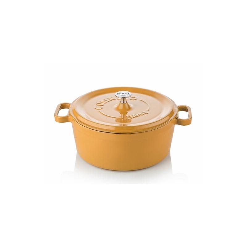 Cast iron cocotte 24 cm yellow