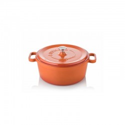 Cast iron cocotte 24 cm orange