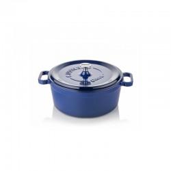 Cast iron cocotte 24 cm blue