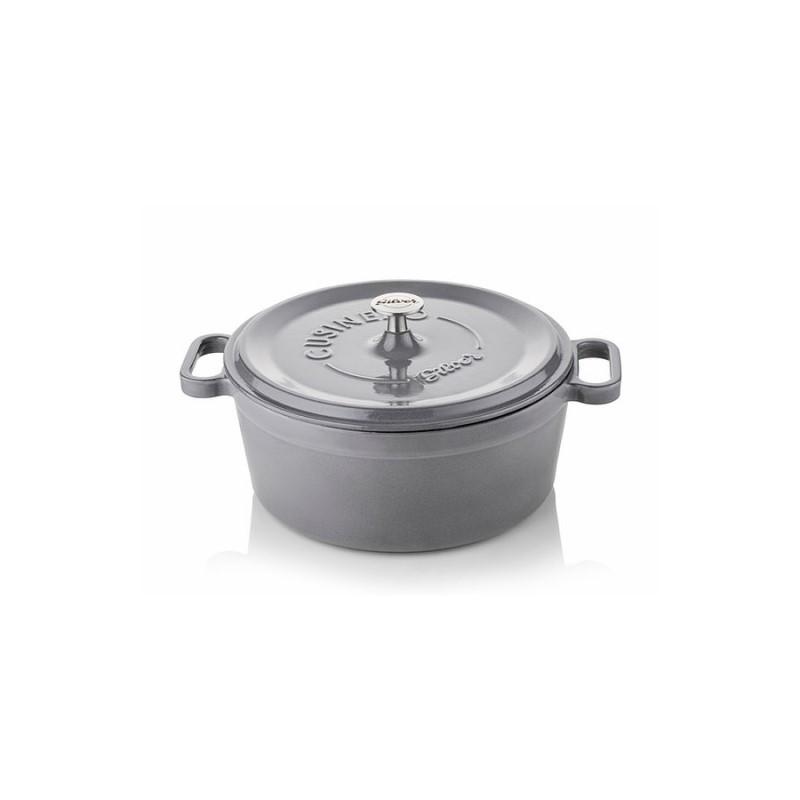 Cocotte 20 cm grey