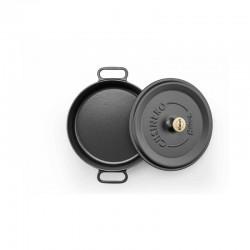 Cast iron pan 24 cm black op