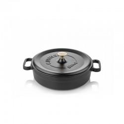 Cast iron pan 24 cm black