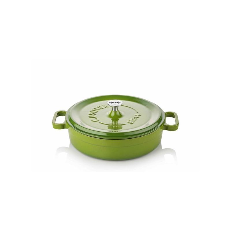 Cast iron pan 24 cm green