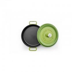 Cast iron pan 24 cm green op