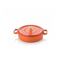 Cast iron pan 24 cm orange