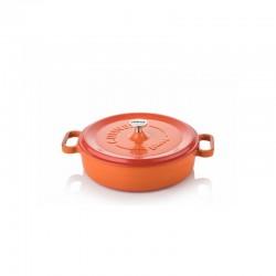 Tegame in ghisa 24 cm arancio
