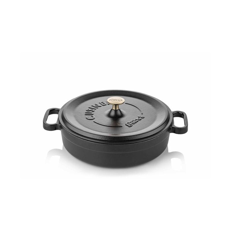 Cast iron pan 28 cm black