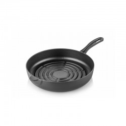Cast iron grill bottom pan 24 cm black