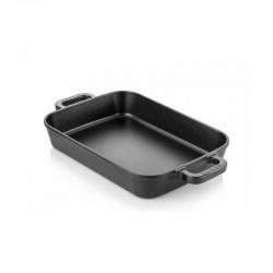 Cast iron backing dish 22x30 cm black