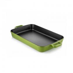 Cast iron backing dish 22x30 cm green